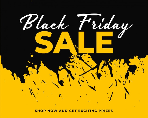 Abstract ink splash black friday background