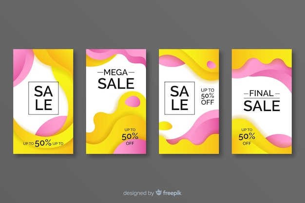 Abstract instagram sale story collection