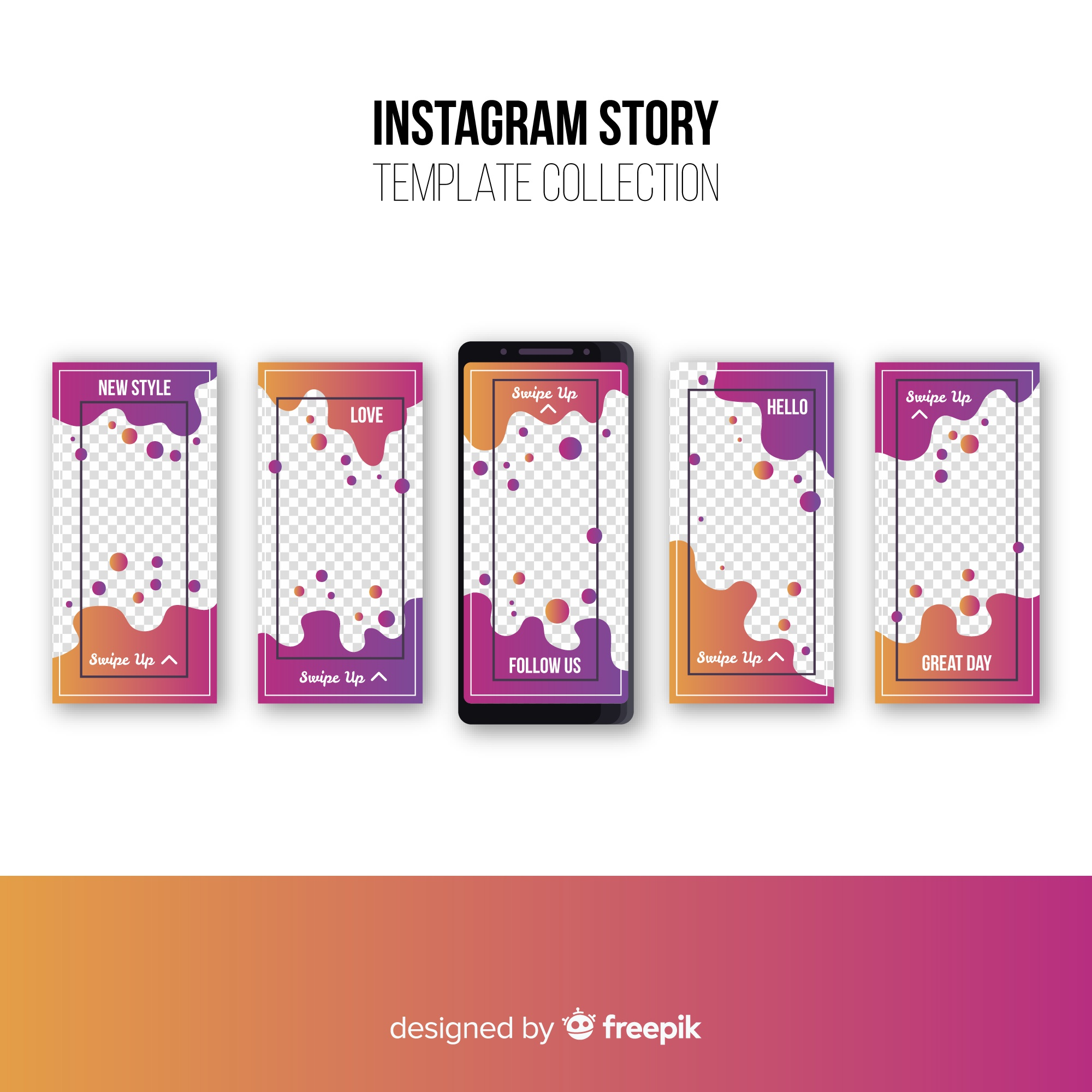 Abstract instagram stories collection