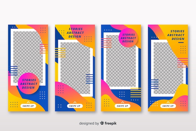 Abstract instagram stories template