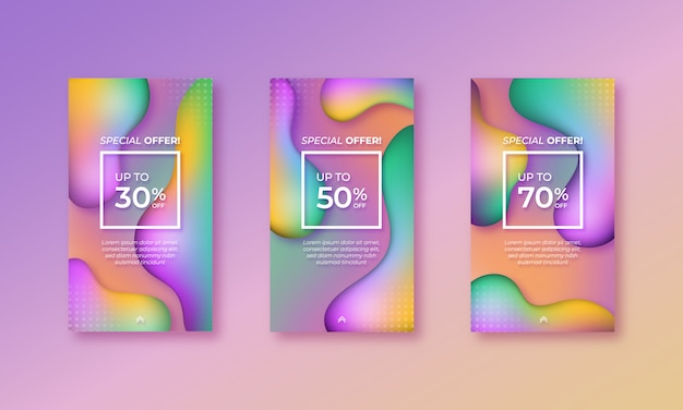 Abstract instagram stories templates
