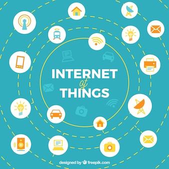 Abstract internet background of things
