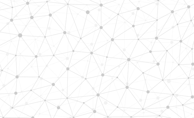 Абстрактные подключения к интернету и технологии графического веб-дизайна обои. геометрическое цифровое многоугольное сплетение со структурой частиц молекулы. сетка футуристический белый треугольник. векторная иллюстрация данных