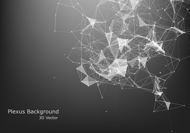 Abstract internet connection and technology graphic design. polygonal background, geometrical backdrop with dots, lines, triangles for global web, connection, science, futuristic concept.