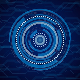 Abstract internet technology blue background. digital electronic futuristic system