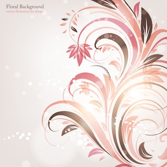 Abstract invitation element leaf graphic