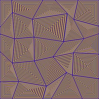 不規則な長方形モザイクの背景を抽象化