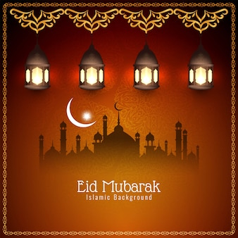 Abstract islamic beautiful eid mubarak