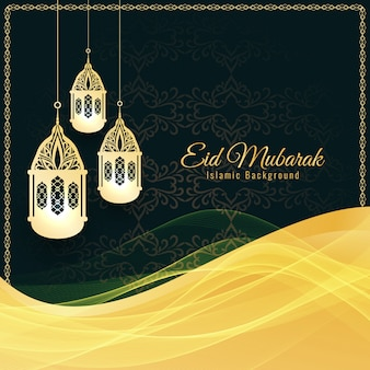 Abstract Islamic Eid Mubarak decorative background