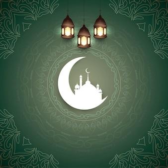 Abstract islamic eid mubarak festival background
