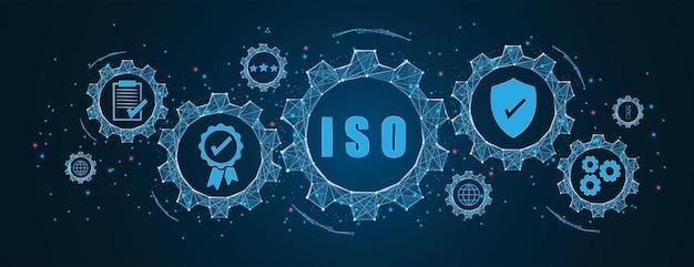 Резюме стандартов iso контроль качества в концепции зубчатых колес и зубчатых колес каркасное низкополигональное