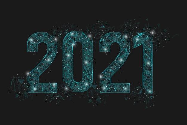 新年番号の抽象的な孤立した青いイラスト。