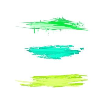 抽象的な孤立したカラフルなベクトル水彩ステイン。紙のデザイン、広告の要素。白い背景で隔離の明るい色。コピースペースのあるドローイング、絵筆のしぶき。