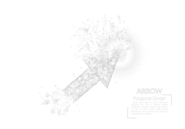 矢印の多角形のイラストの抽象的な孤立した画像は、sの猛烈な夜空の星のように見えます...
