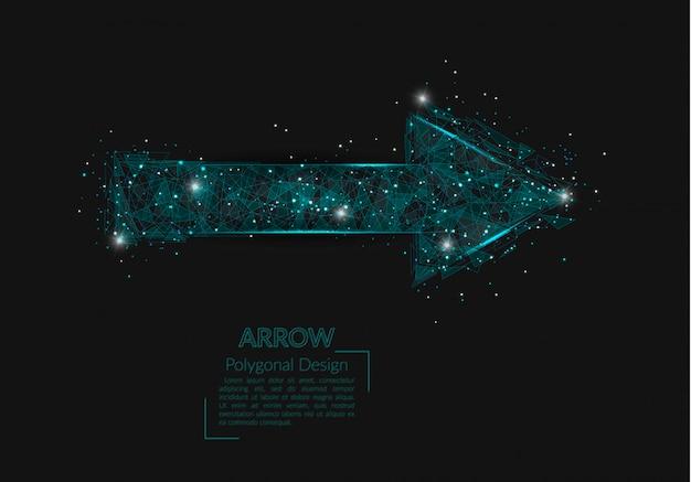 Абстрактное изолированное изображение стрелки