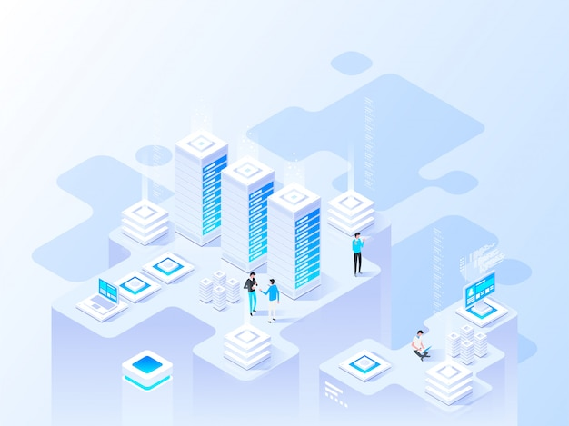 Abstract isometric high technology concept.