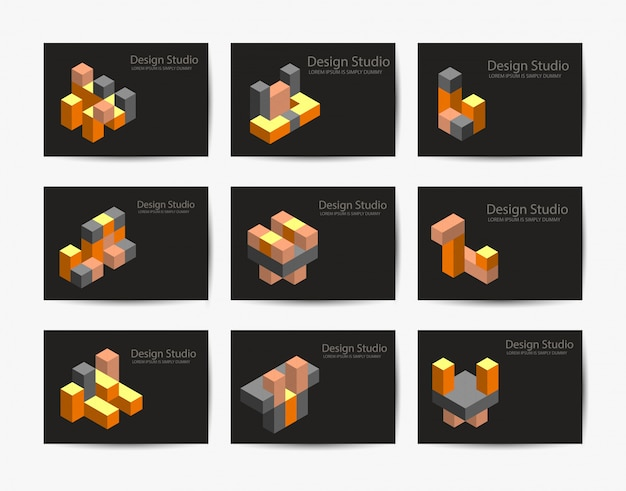 Abstract isometric logotype