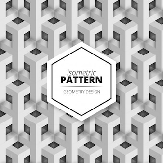 Abstract isometric Pattern Background Desing