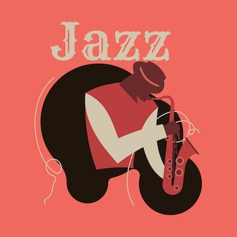 Abstract jazz line art