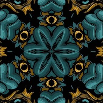 抽象的な万華鏡の背景、美しい多色テクスチャ