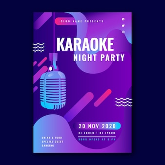 Abstract karaoke party flyer template