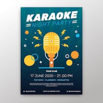 Modello di manifesto astratto karaoke