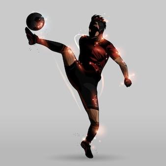 空中での抽象的な蹴り