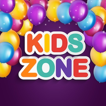Abstract kids zone on blue background.  illustration