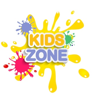 Abstract kids zone on white background.  illustration