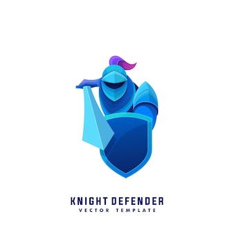 Abstract knight colorful vector