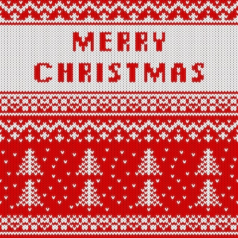 Абстрактный вязаный рождественский образец. вяжем текстуры на рождество.