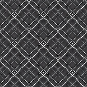 Abstract knitted pattern. vector seamless background with shades of gray colors. knitting wool sweater design.
