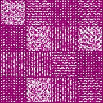 抽象的なニットパターン