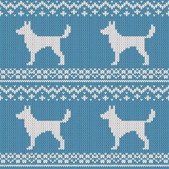 Абстрактный вязаный бесшовный образец. вяжем текстуры на новый год, оберточную бумагу с рождеством.