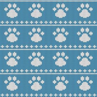 추상 니트 완벽 한 패턴입니다. 새해, 메리 크리스마스 포장지 니트 질감.