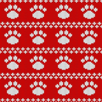 Abstract knitted seamless pattern. knit texture for new year, merry christmas wrapping paper.