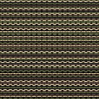 Abstract knitting pattern in classic camouflage colors. seamless background