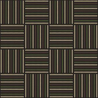 ウッドランドカモフラージュスタイルの抽象的な編みパターン