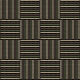 Abstract knitting pattern in woodland camouflage style