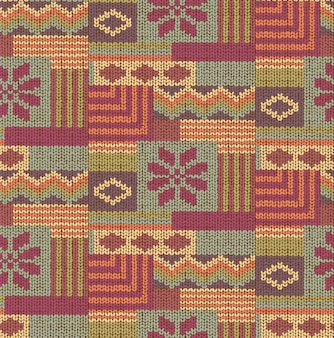 Abstract knitting seamless geometric pattern. knitted texture. retro knit fabric