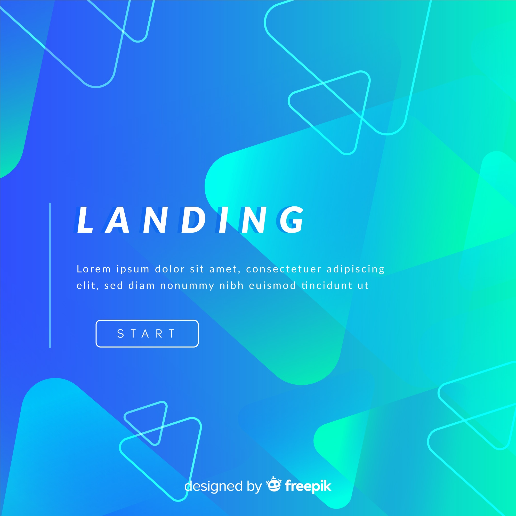 Abstract landing page background