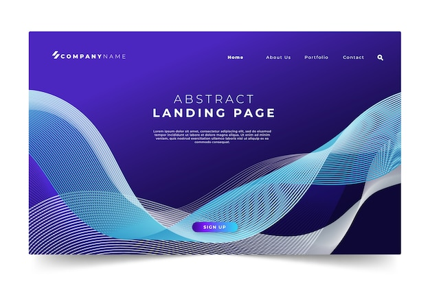 Abstract landing page template concept