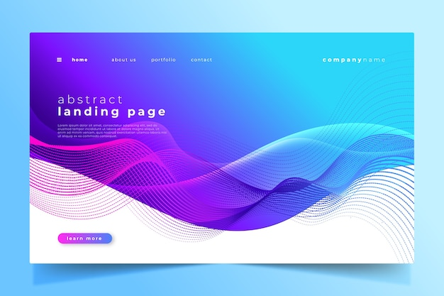 Abstract landing page template design