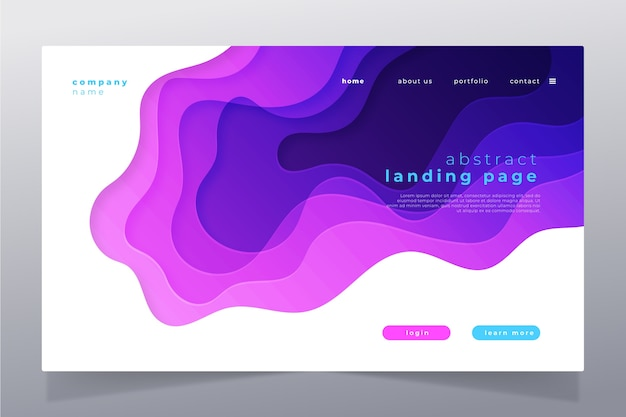 Abstract landing page template style