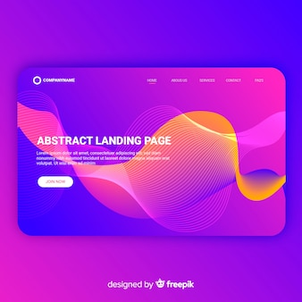 Abstract landing page template