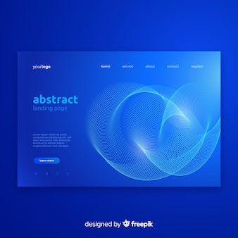 Abstract landing page with lineal shapes