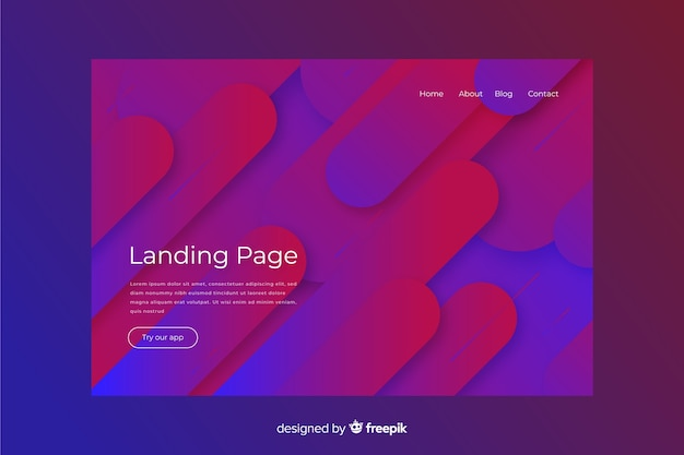 Abstract landing page with minimal design