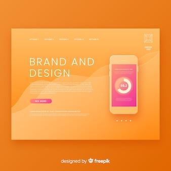 Abstract landing page with technology devices