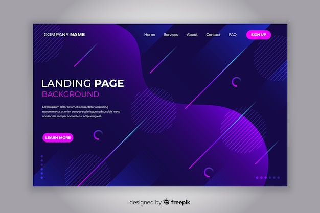 Abstract landing page