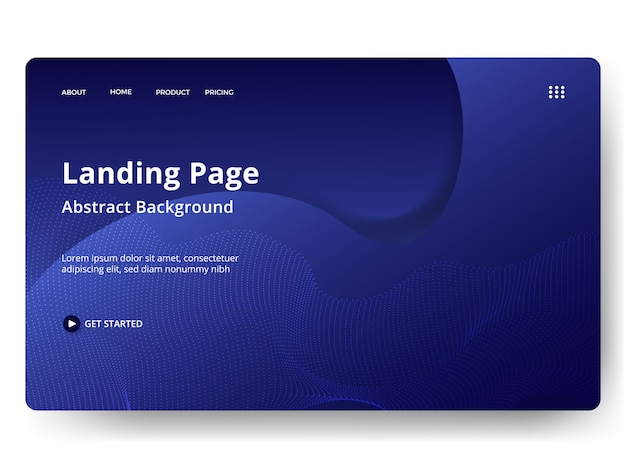 Abstract landing pages